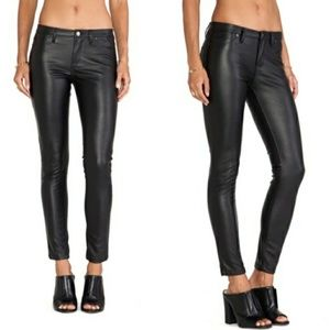 Blank NYC Faux Leather Black Skinny Jeans